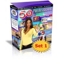 50 Prof Biz Header Templates: Set 1