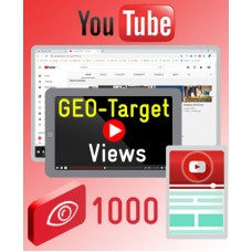 YouTube GEO Views - 1000